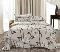 Wholesale Free FedexNoble Silk Bedding Set Luxury Comforter Set Jacquard Duvet Cover Bed Sheet Bed Cover