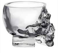 Wholesale Crystal Skull Head Vodka Shot Glass Wine Cup Whisky Drinking Glasses Mug Ware for Home Bar Party Creative ml