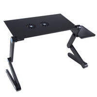 portable laptop computer stand - Black Adjustable Folding Vented Computer Laptop Table Portable Bed Tray Book Stand Tabletop Up to quot Dropshipping Freeshipping