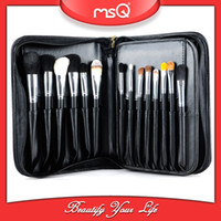 cosmetic black up - Cosmetic Makeup Brush Set MSQ Goat Hair Professional Eyeshadow Foundation Lipstick Concealer Make Up Brushes With Black Handbag Case