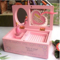 Wholesale Brand New Fashion music box jewelry box Colorful Design Lovely Gift beautiful with mirror and Ballet girl style