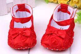 Wholesale Girls Shoes Todder pre walker shoes infant baby girl prewalker flower soft sole shoes Baby shoes Little Spring Drop ship
