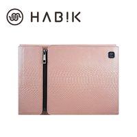 Wholesale HABIK Original Design Genuine Leather Cattlehide Laptop Chromebook Ultrabook Liner Package Sleeves Bolsas for Macbook Air Pro Pink