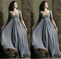 Элегантный Империя шнурка Верхняя часть тела для беременных Вечерние платья плюс размер V шеи линия Полная длина рукавом Половина платье для беременных платье