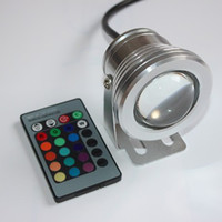 Wholesale 10W V RGB Underwater Led Light Floodlight CE RoHS IP68 lm Colors Changing with Remote for Fountain Pool Decoration