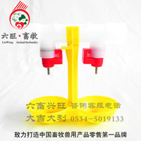 Wholesale Duck chicken ball valve water dispenser chicken duck steel ball double the nipple drinkers ball valve steel