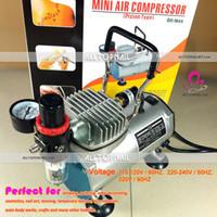 Maquiagem Portátil Airbrush Mini Compressor de ar 220V Piston Oil-less Silencioso prego Spray de Arte Pincel Air - Frete Grátis
