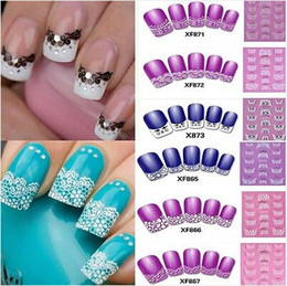 Wholesale Hot Sale Sheet Design D Transfer Lace Design Nail Art Sticker Manicure Nail Polish Decal Tip JC03041