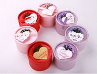 Cheap The cylinder wedding favors gift paper candy boxes with heart card flowers birthday love gift celebration supplies free shipping
