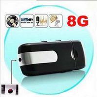 Cheap New 2014 100% real 8G high quality Mini DVR U8 USB Disk HD Hidden Spy Camera Motion Detector Video Recorder 720x480 with box mini camcorders
