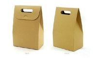 Wholesale 40pcs Brown Kraft Paper Box DIY Candy Soap Packaging Box Chocolate Box Hand Cake Paper Bag Food Packaging Bag favor Box Gift Paper Bag