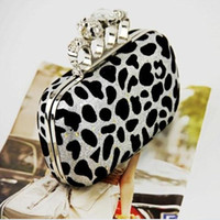 skull clutch - Fashionable Skull Clutch Bags Lady Evening Bags Leopard Shoulder Bags Colors