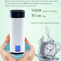 Wholesale Smart Water Cups with Remind Drink Time Function Creative Cool Gadget Bottle Cup Christmas Gift