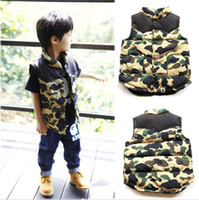 Cheap Cool Kids Baby Boys Toddler Camouflage Vest Waistcoat Jacket Outwear Clothes DH04