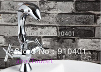 Cheap Free shipping ! novelty items water-tap ,Dolphin copper-wide basin hot and cold taps Creative home bathroom Faucet