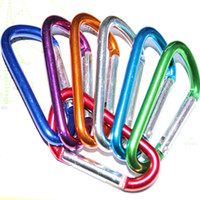 Cheap Free shipping 60pcs lot hot selling Carabiner Snap Clip Hook Keychain Hiking mixed color,Aluminum Convenient Hiking Camping Clip On Keychain