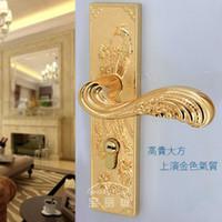 Aluminum Yes Yes Chinese antique LOCK Gold Door lock handle door levers out door furniture door handle Free Shipping(3 pcs lot) pb38