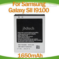 Cheap 48pcs brand new 1650mAh battery for Samsung i9100 Galaxy S2 S 2 II cell mobile phone