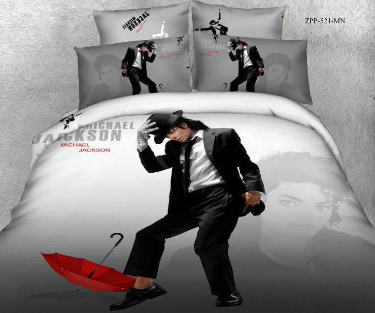 3d michael jackson literie ensemble couette pour lit queen for Housse requirements
