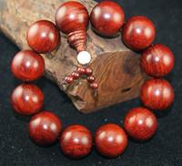sandalwood beads - Diameter cm Advanced Real india lobular red sandalwood venus cm Men s Women single circle Great big Buddha beads bracelets