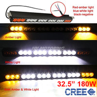 """Cheap 32.5"""" 180W CREE 18-LED Driving Work Light Bar Offroad SUV ATV 4WD 4x4 Spot Flood Combo Beam 18000lm 9-70V Clear Amber Lens JEEP Wagon"""