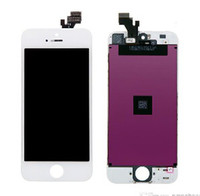 Wholesale replacement for iphone5 lcd screen black and white