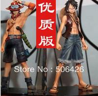 Wholesale 2013 New arrive Japan anime one piece Monkey D Luffy Portagas D Ace pvc figure set toys gifts
