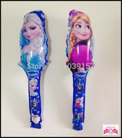 balloons maker - New arrive wholesales Frozen cheering stick balloon clappers inflatable balloon stick noise maker
