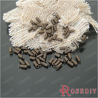 Wholesale Leather Cord End Cap Stopper Metal Jewelry Fasteners Clasps MM Antique Bronze Iron Spring Clasps