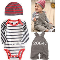 Wholesale Whosale china cloth New romper hat pants newest model set Baby Clothing Set Baby Clothes