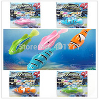 Wholesale 20pcs Robo Fish set Battery Powered Electric Pet Toy Robofish Clownfish Aquatic Kids Toy Electronic pets Creative Baby toys