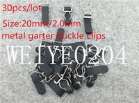 Wholesale 20mm buckle garter clips black sexy Metal buckle Durable bra Straps brief adjustable metal suspenders garter buckle clips