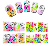Wholesale 50Sheets Nail Beauty Colorful Flower DIY Nail Art Polish Foils Decal Stickers Tips Wraps Decoration Water Transfers XF1372