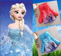 Wholesale 9 off IN STOCK NEW ARRIVAL FROZEN ELSA ANNA Thick duvet Winter children Outwear coat Cartoon Warm Down Coat drop shipping hot sale ZW