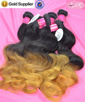 Cheap Russian Body Wave Hair Best Two Tone Weave