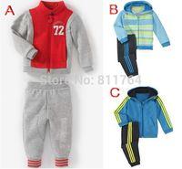 Wholesale Retail set children s shampooers jogging tracksuits sport set hooded jacket pants kids baby boys Spring Autumn clothes Suit