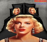 Cheap 3D Marilyn Monroe bedding comforter set sets queen size duvet cover bedspread bed in a bag sheet home texile bedclothes bedroom quilt linen