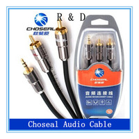 DC3.5mm rca cable - Choseal Q A audio cables one turn points two stereo lotus RCA m