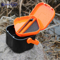 Cheap Fishing Tackle box 2pcs Orange Fishing Live Bait Box Blood Worm Box Design of air hole ,Magnet Switch ,Magnet Switch Promotion