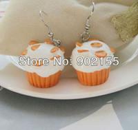 Cheap Costume jewelry high quality cheap Cupcake earrings
