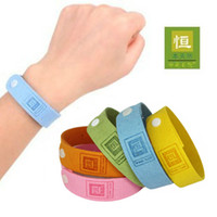 Cheap Free shipping natural Mosquito insect bracelet band baby wristband Repellent anti Bracelet wholesale price 10pcs lot adjustable