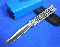 Cheap Classic Butterfly BM43 knife Balisong knife 440C 59HRC blade Outdoor survival tactical knife gift knife knives wtih nylon bag
