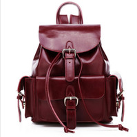 Wholesale NEW Preppy Style Backpacks Genuine Leather Backpack Lady Candy Color Shoulders Bags Good Gift Colors