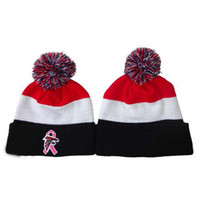 Wholesale Skullcaps of Falcon Football Beanies Red White Black Knitted Hats for Men Women Casual Autumn Headwear Warm Winter Hats Snow Beanies