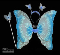 Wholesale Halloween Head Hoop Butterfly For Party Blue Pink Yellow Red Hot Sales set A18