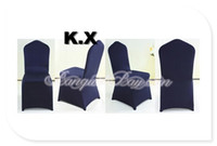 Cheap Cheap Price Wedding Lycra Spandex Chair Cover Navy Blue Color