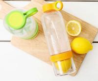 boxes boxes fruit - Citrus Zinger Lemon Cup Fruit Infusion Water Bottles with Citrus Juicer ML with Gift box colors