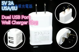 5V 2A Dual USB Wall Charger for Samsung EU US Plug AC Power Home Travel Adapter for Galaxy S4 S3 S5 Note 2 3 HTC Nokia Blackberry Universal