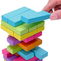 Wholesale colorful Wooden toy educational games Digital toy interaction stacked layers HT248