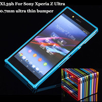 Cheap Z 0.7mm -thin Aluminum Bumper For Sony Xperia Z XL39h 2014 New Fashion Mobile Phone Case + Flim + Touch Stylus